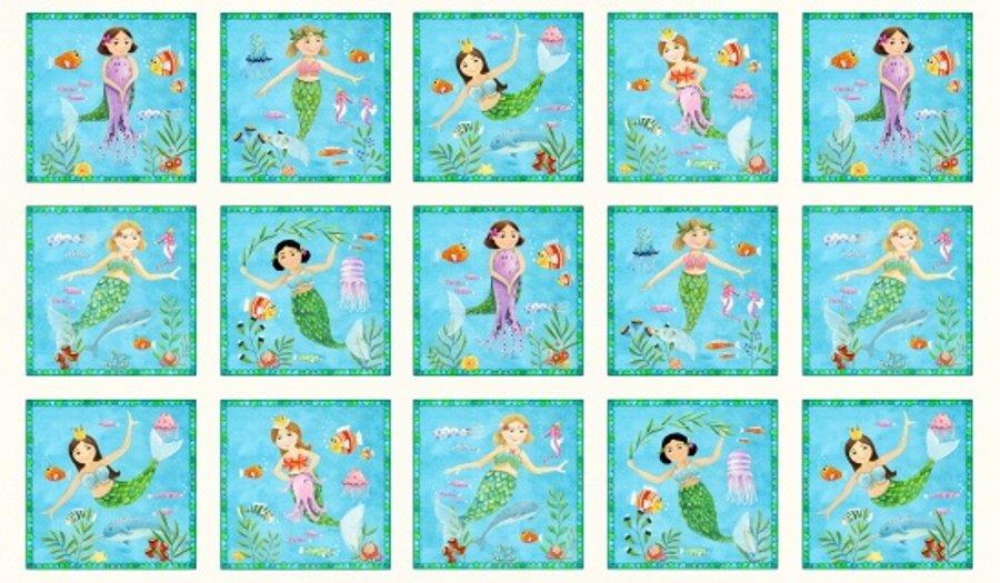 Little Mermaids on Aqua for Elizabeth's Studios