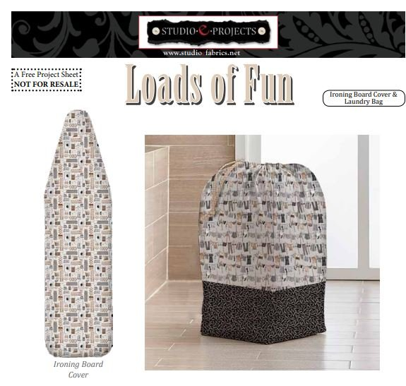 Loads of Fun Laundry Bag Cover and Ironing Board Cover - FREE Pattern by Studioe
