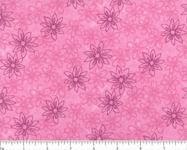 108 Sketched Floral Wide Backing