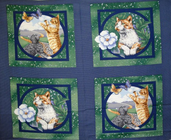 Cat's Eye View Pillow Panel by Concord Prints for MDG