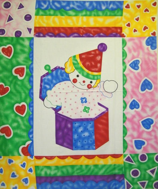 Clown Fun Quilt Panel by Concord Prints
