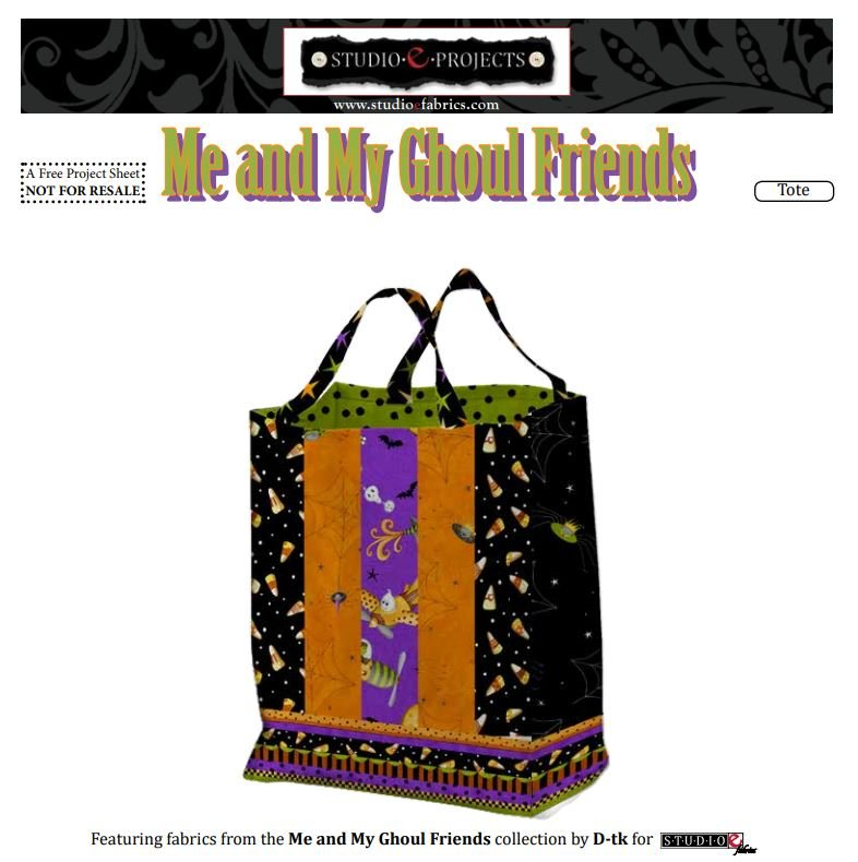 Me and My Ghoul Friends Tote Bag - FREE Pattern by Studioe