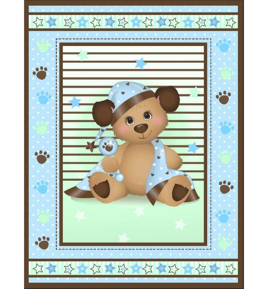 Puppy Pre-Quilted Baby Panel Kit - Panel Plus Binding