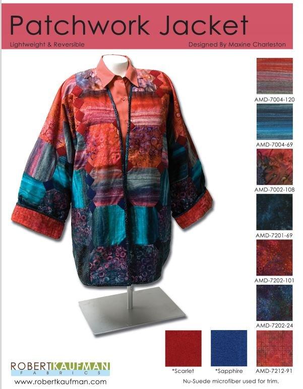 Patchwork Jacket - FREE Pattern by Robert Kaufman