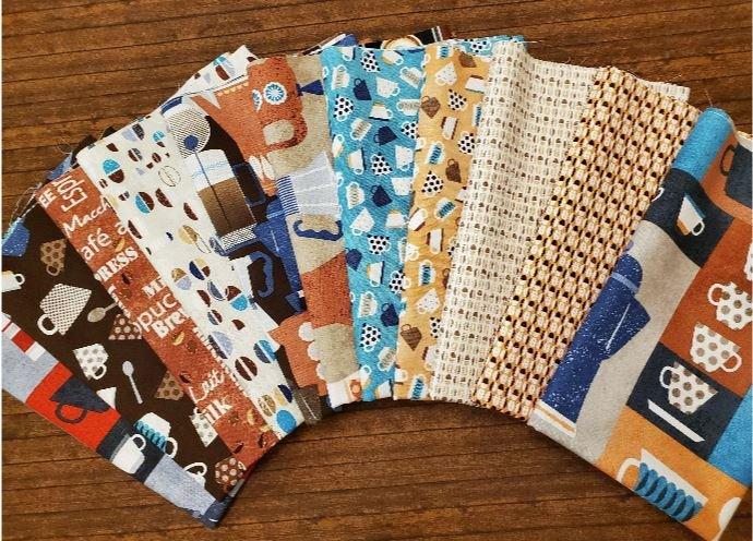 Perfect Blend Coffee Pack by Greta Lynn for Kanvas - 11 Piece Half Yard Bundle Pack