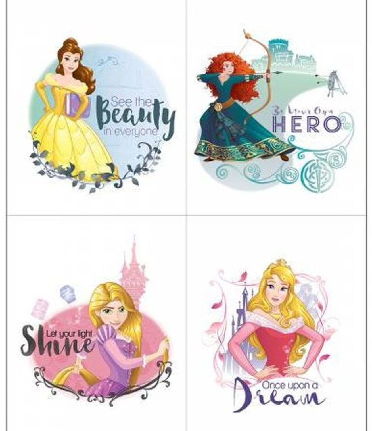 Princesses Be Strong by Camelot Fabrics