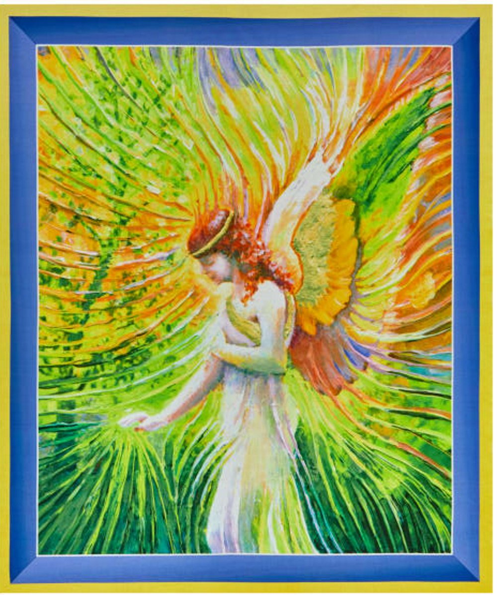 Artworks in Yellow: Angel of Patience  by Julia Watkins for Quilting Treasures