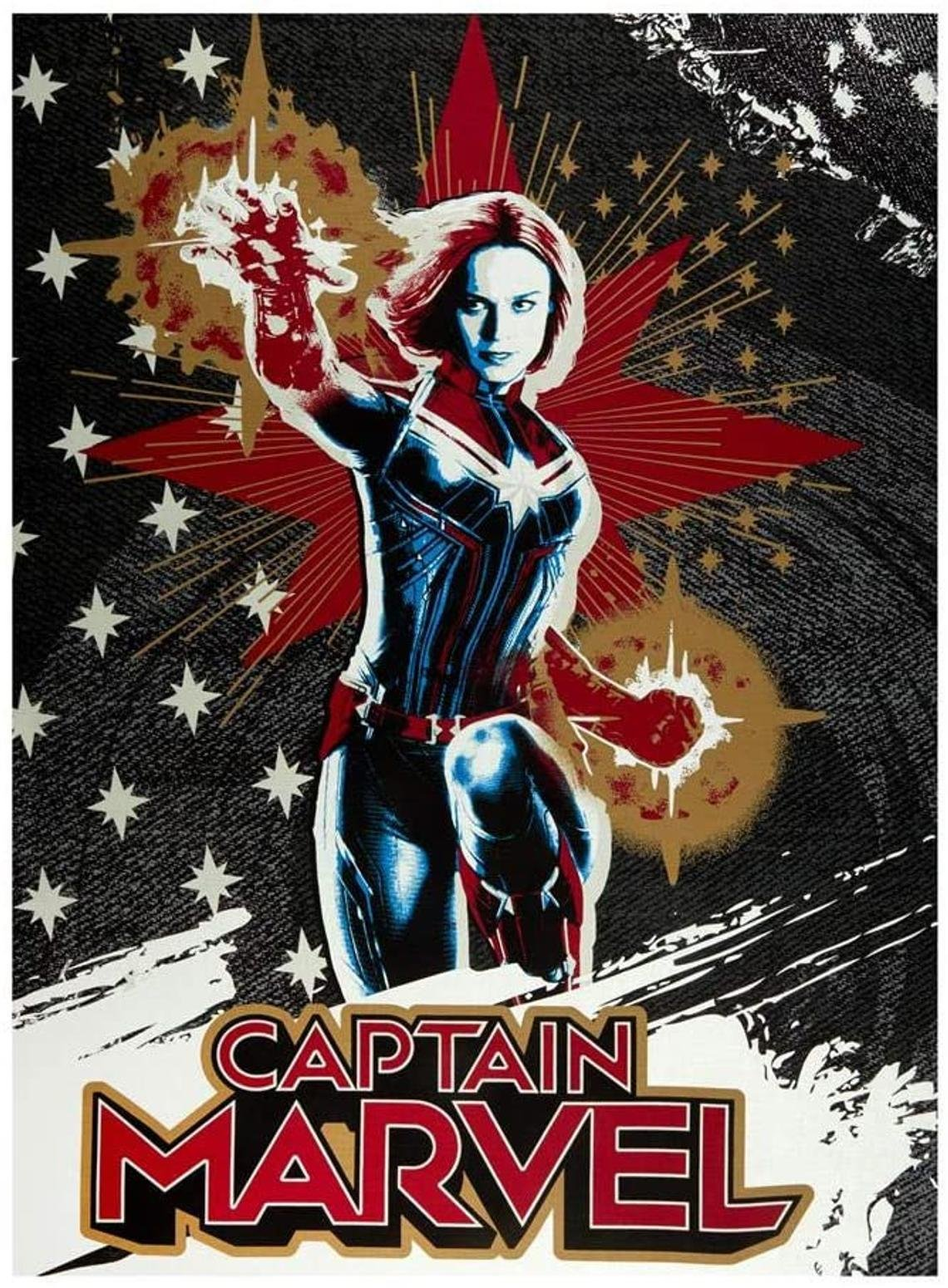 Captain Marvel Quilt Panel by Camelot Fabrics
