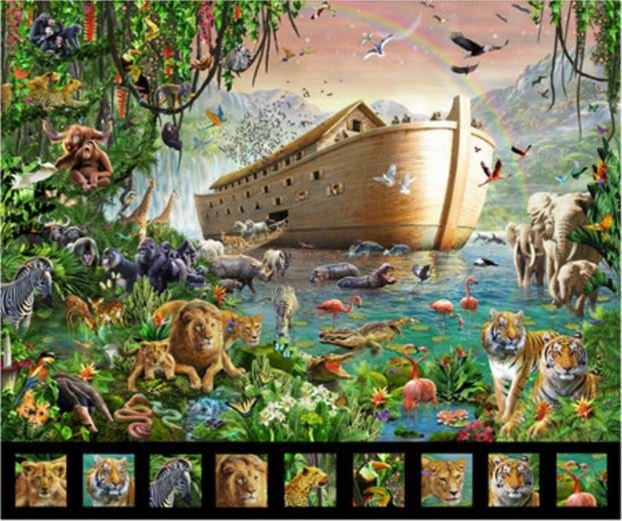 Noah's Ark Quilt Quilt Panel by ArtWorks for Quilting Treasures