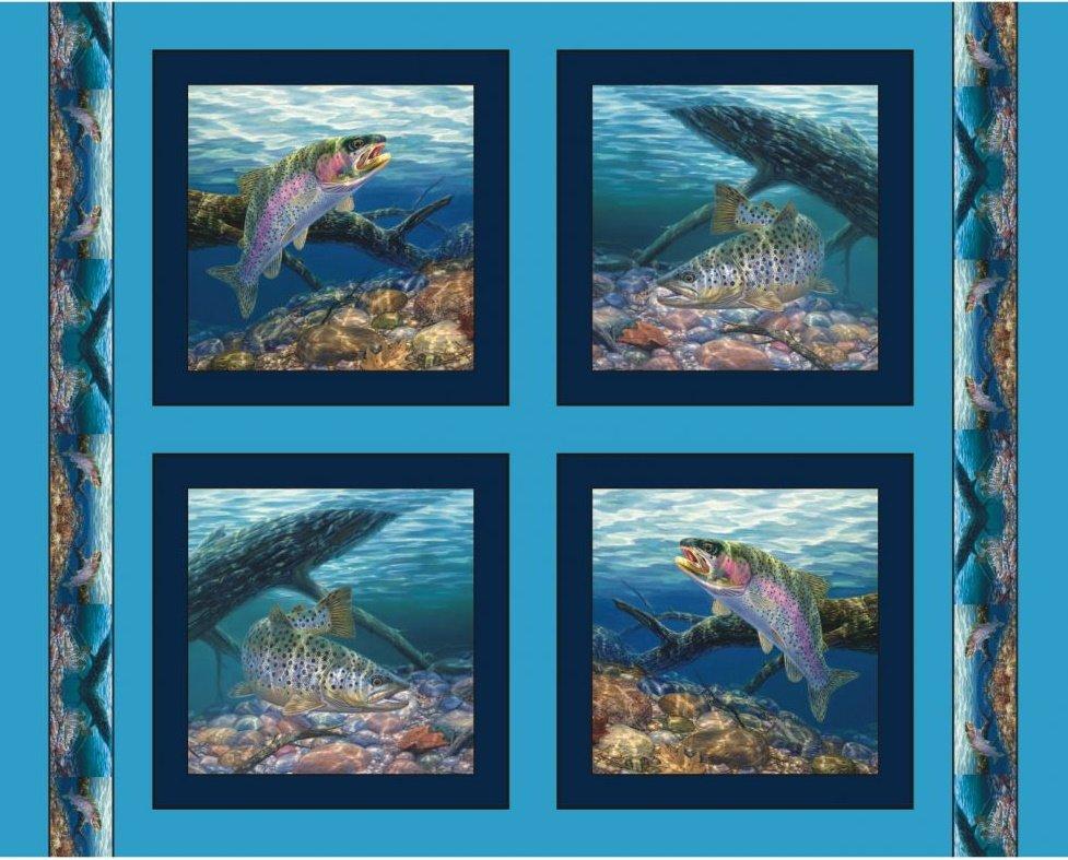 Angler's Delight - Fishing -  Pillow Panel - by MDG Digital
