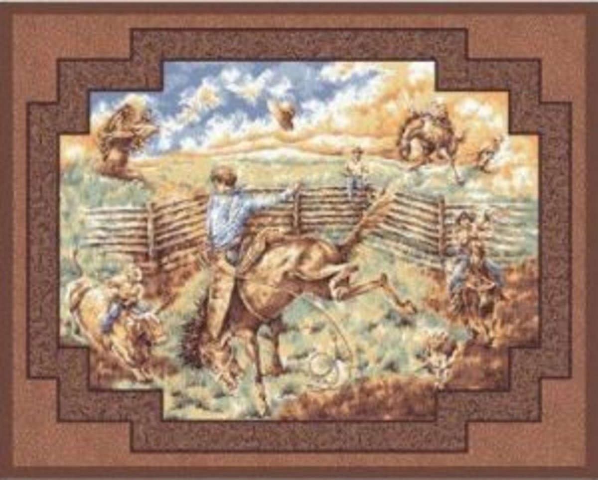 Rawhide Wallhanging by Concord Prints for MDG