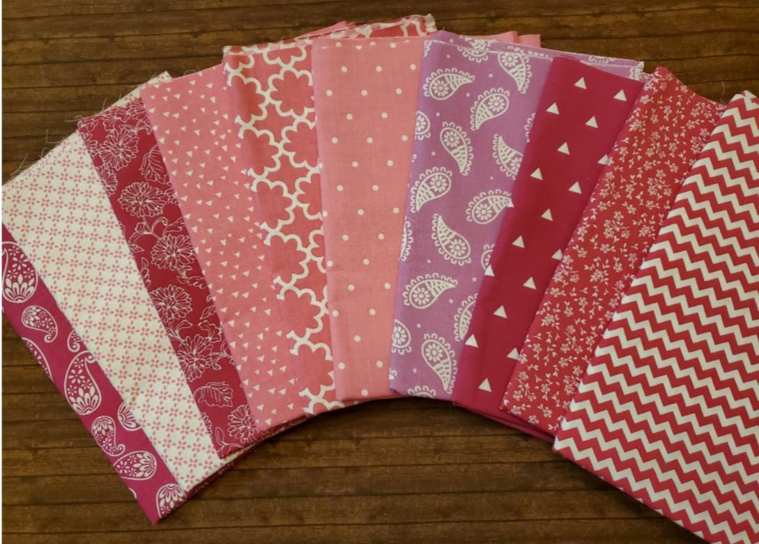 QS Mixed Pinks - Quilter's Showcase - 10 Piece Half Yard Bundle Pack