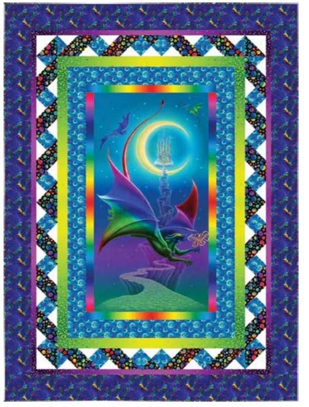 Rainbow Dragon Lap Quilt Kit - Quilt Designed by Heidi Pridemore for Studioe
