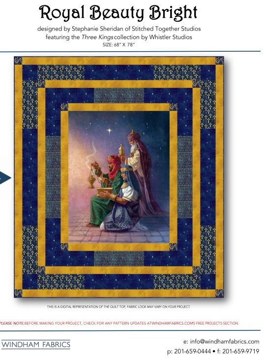 Royal Beauty Bright Quilt - FREE Pattern by Whistler Studios for Windham Fabrics