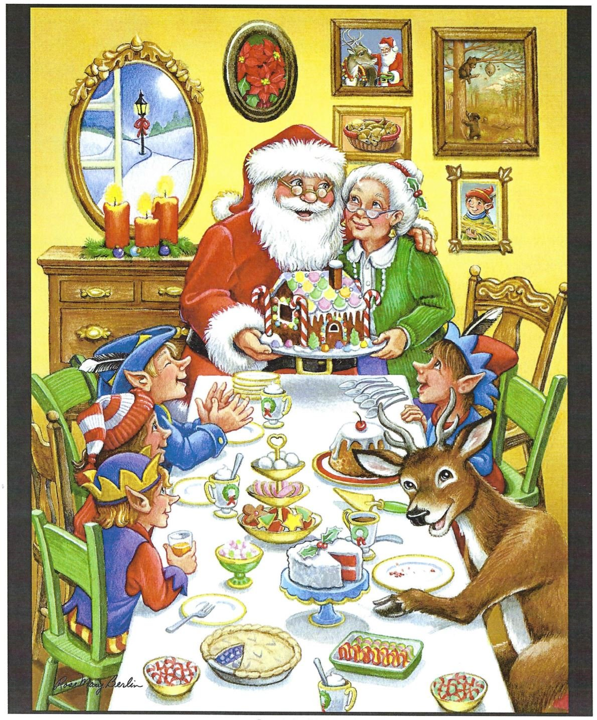 Santa's Table Quilt Panel Designed by Rose Mary Berlin for MDG