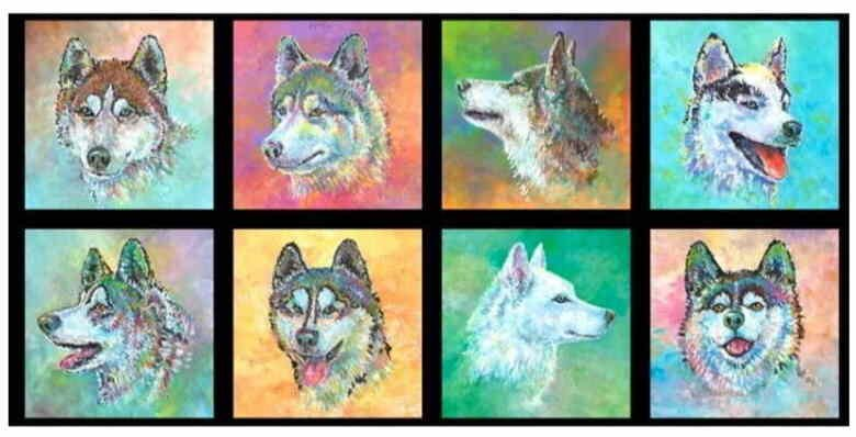 Silly Siberians Panel by Jon Van Zyle for P&B Textiles