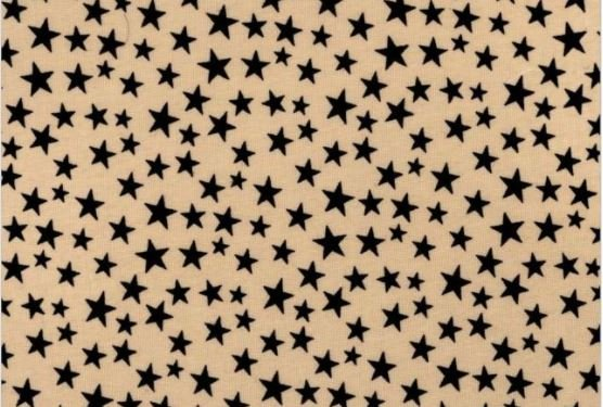 3 Yard Backing Piece: 108 Wide Blue Stars on Tan in a single 3 yard piece