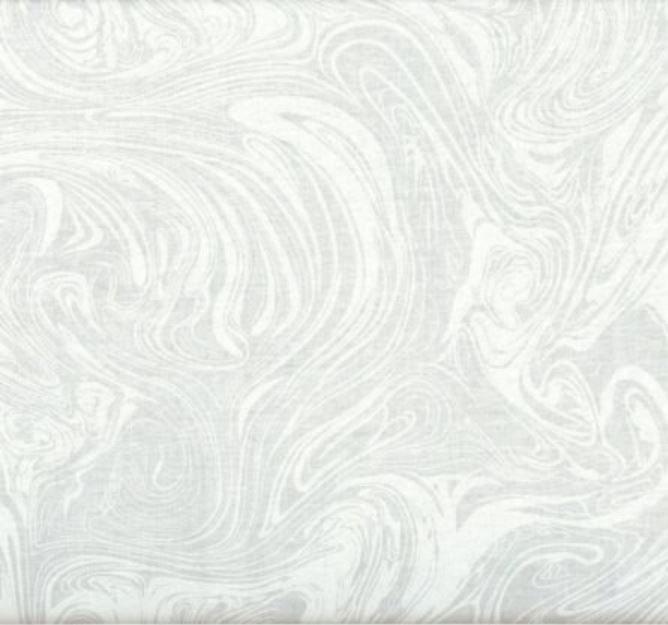 2 yard Backing: White on White Swirling Marbling