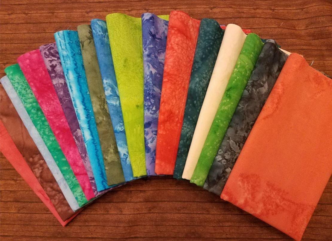 Tie Dye #2 - Rachael's Picks - 17 Piece  Half Yard Bundle Pack
