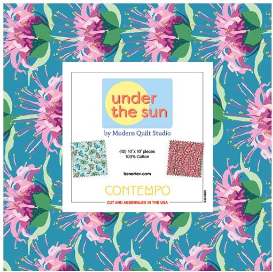 Under The Sun - 10 x 10 Squares - 42 piece Fabric Square Pack from Benartex
