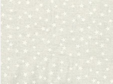 3 Yard Backing Piece: 108 Wide Small White Stars on Off-White in a single 3 yard piece