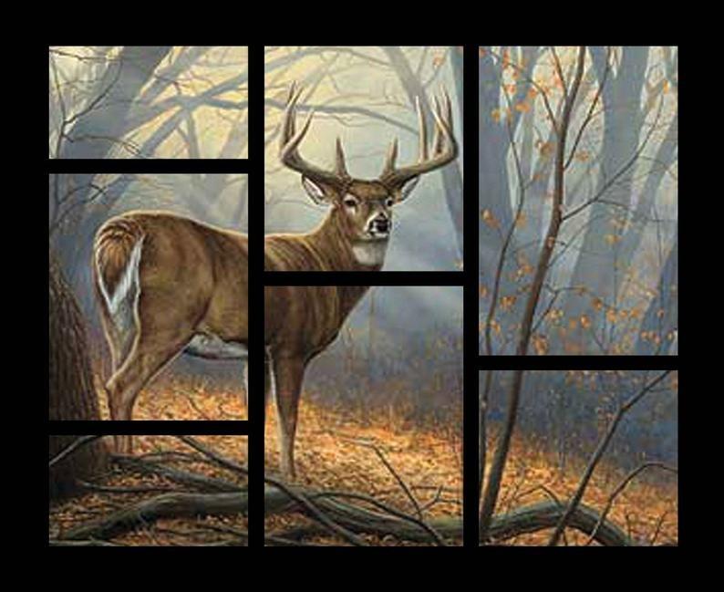Wild Wings Deer Panel by Springs Creative