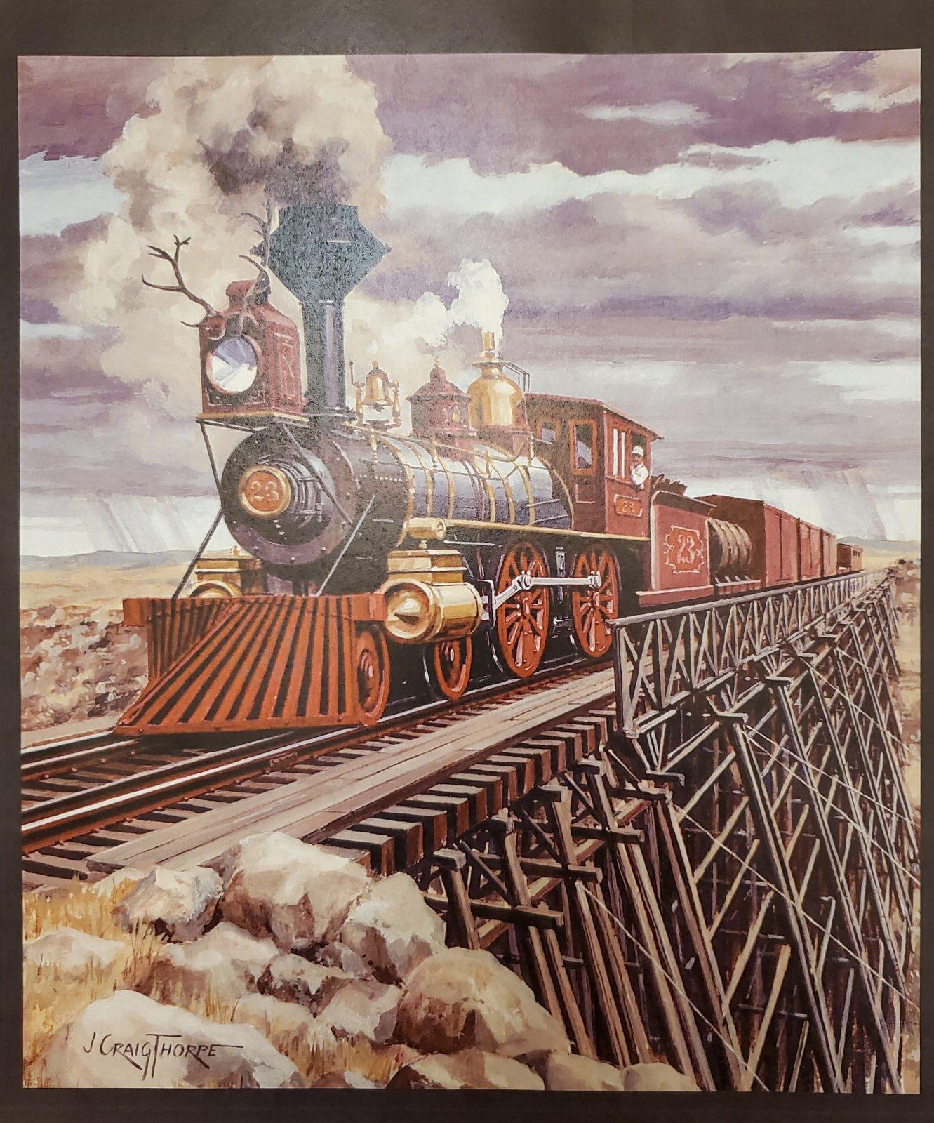 Wyoming Locomotive - Train Engine Panel