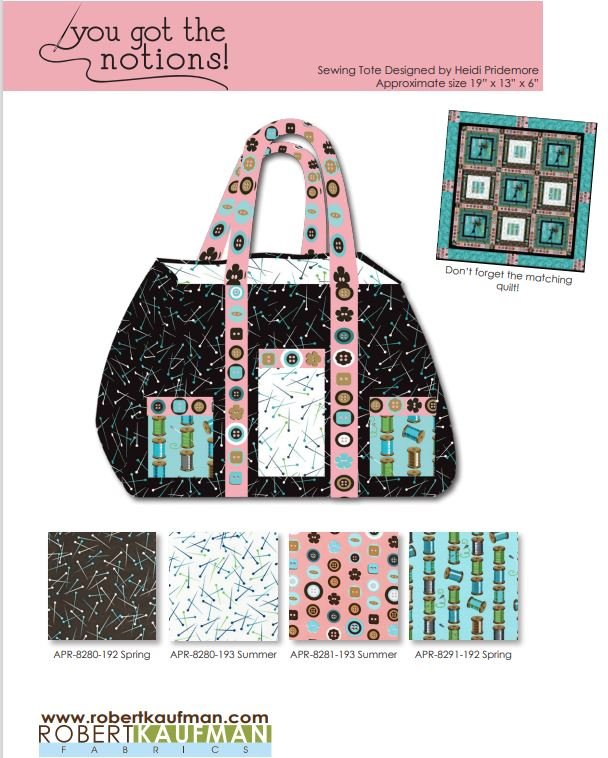 You Got the Notions Bag -- FREE Pattern by Robert Kaufman