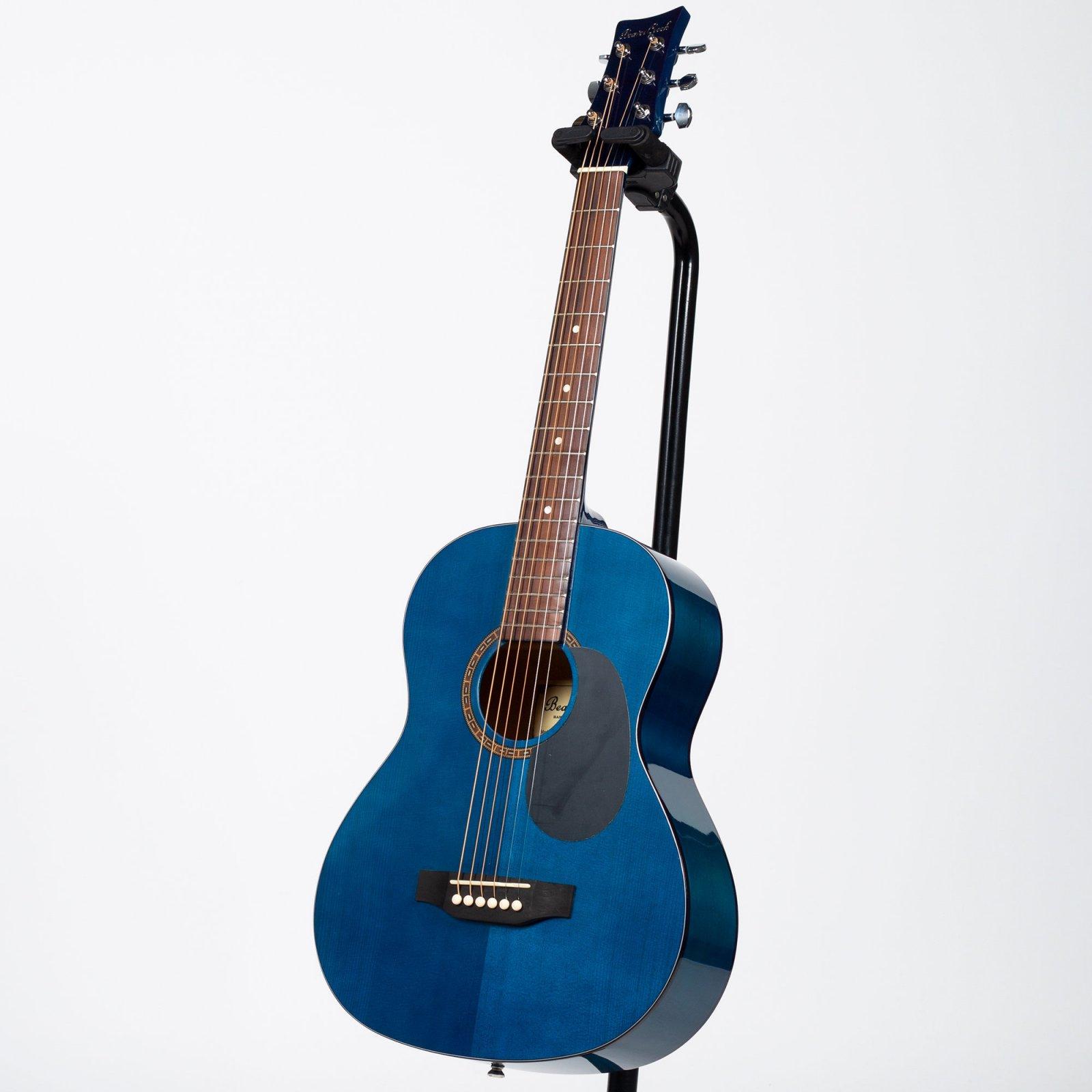 BeaverCreek - BCTD601TB 3/4 Size Acoustic Guitar - Transparent Blue