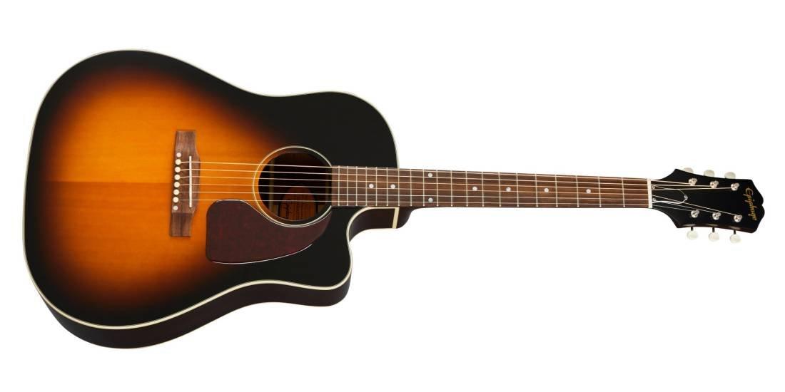 Epiphone Inspired by Gibson Masterbilt J-45 EC Cutaway - Vintageburst