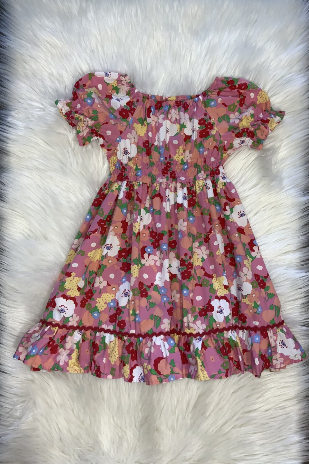 MATILDA JANE PINK FLORAL DRESS SS SIZE 6
