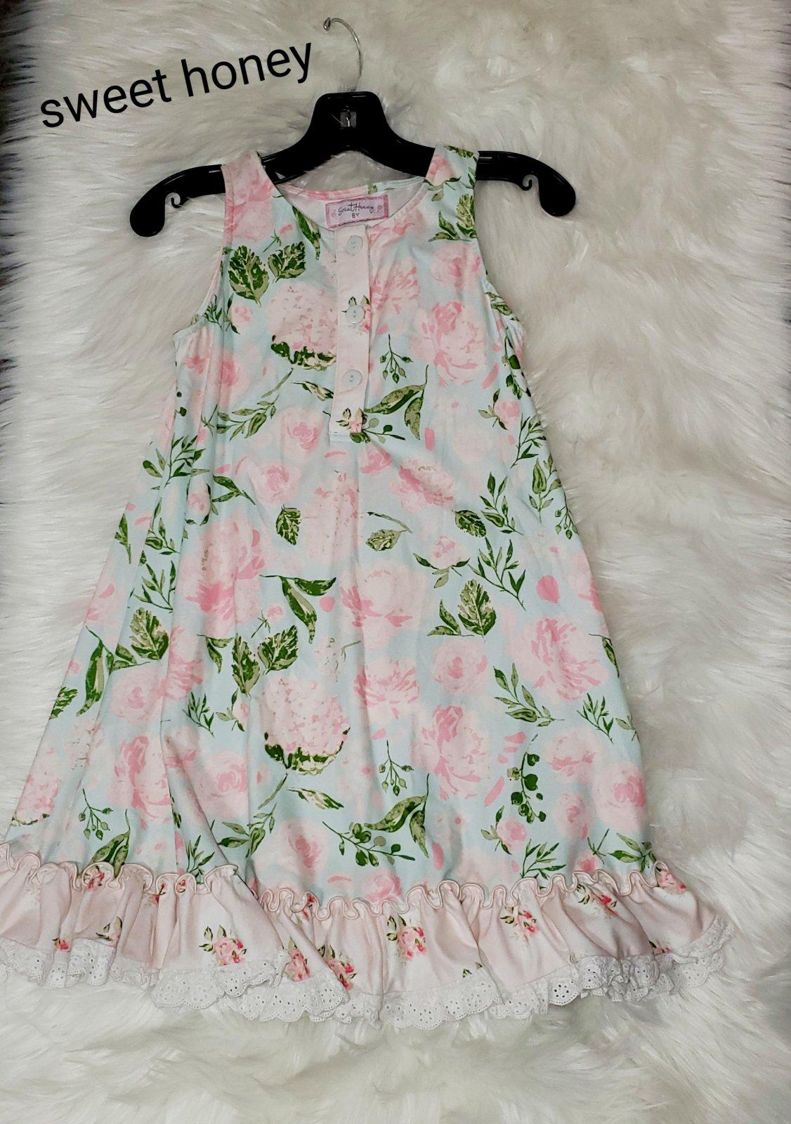 Sweet honey dress floral girls size 8