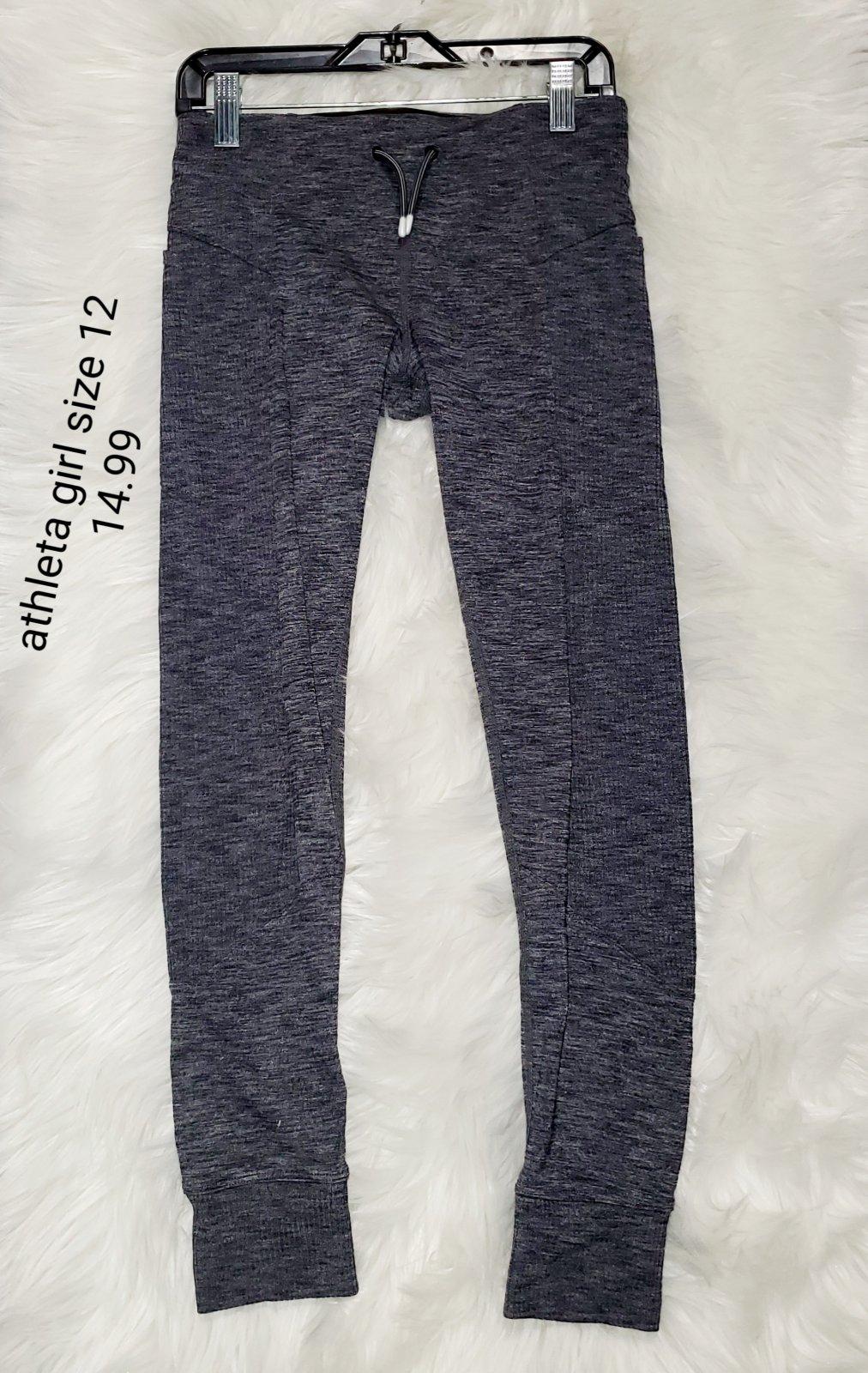 Athleta girl athletic pants grey girls size 12