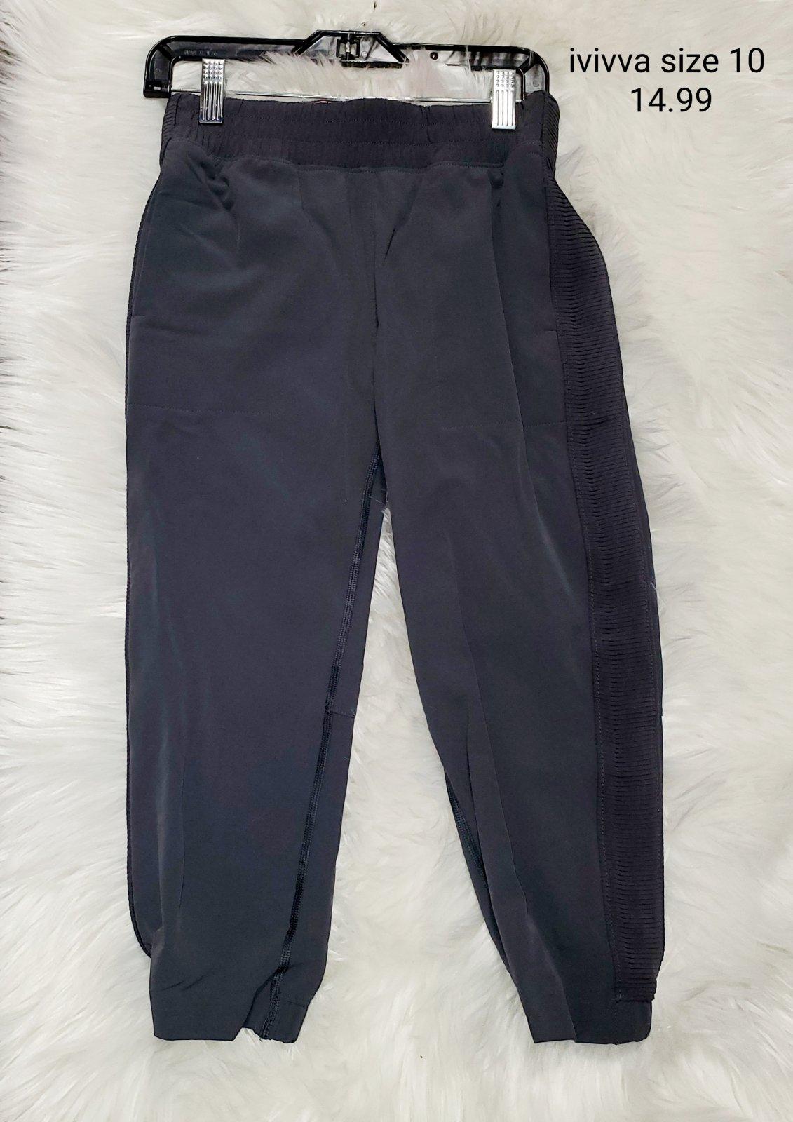 Ivivva athletic pants grey girls size 10