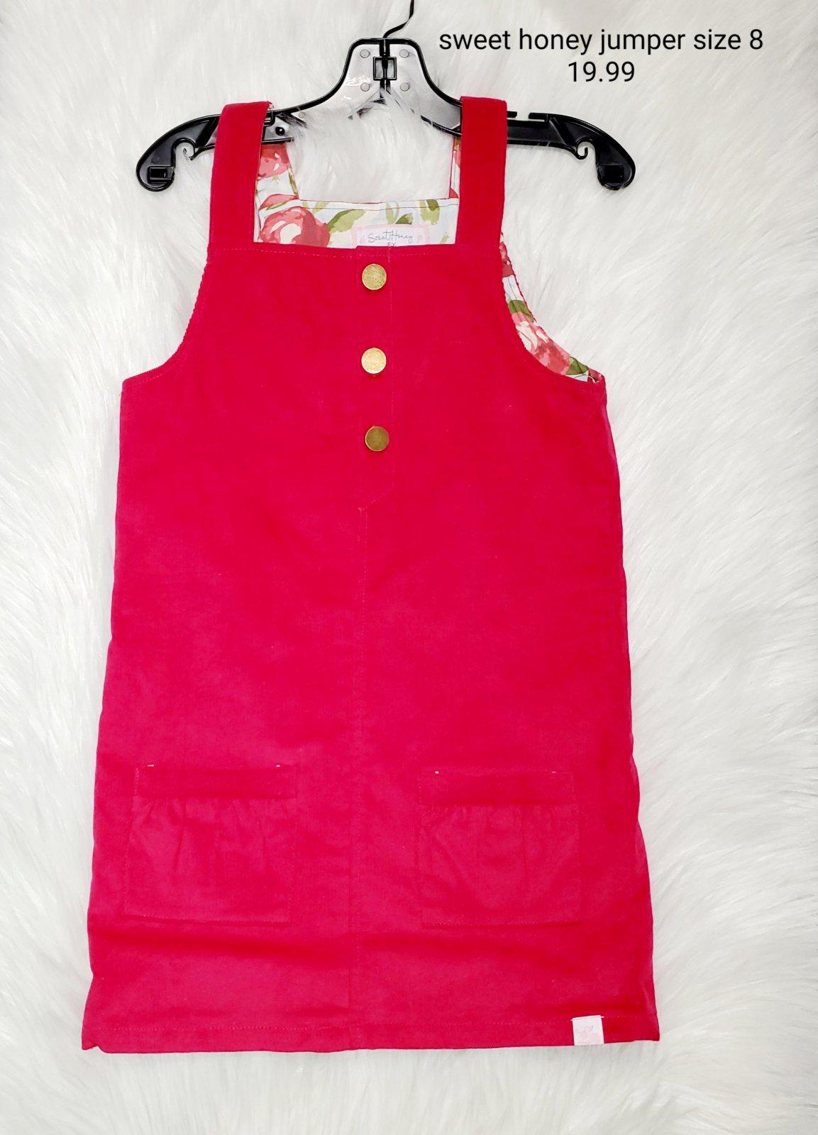 Sweet Honey jumper dress pink girls size 8