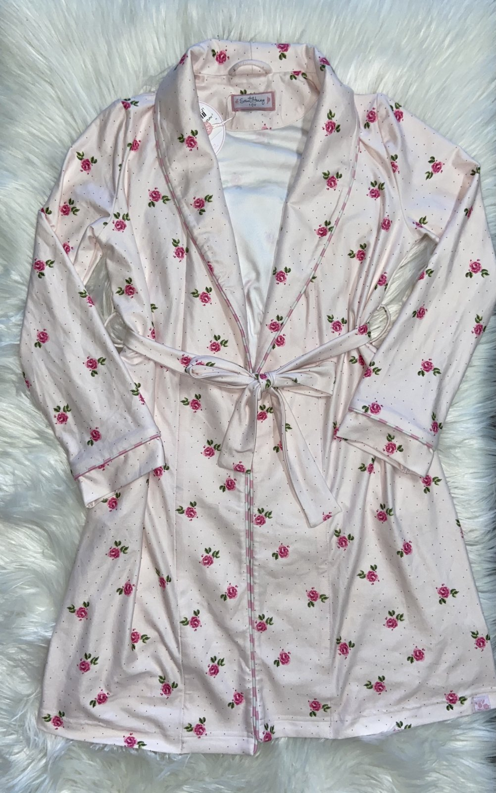 SWEET HONEY PINK FLORAL ROBE SIZE 10