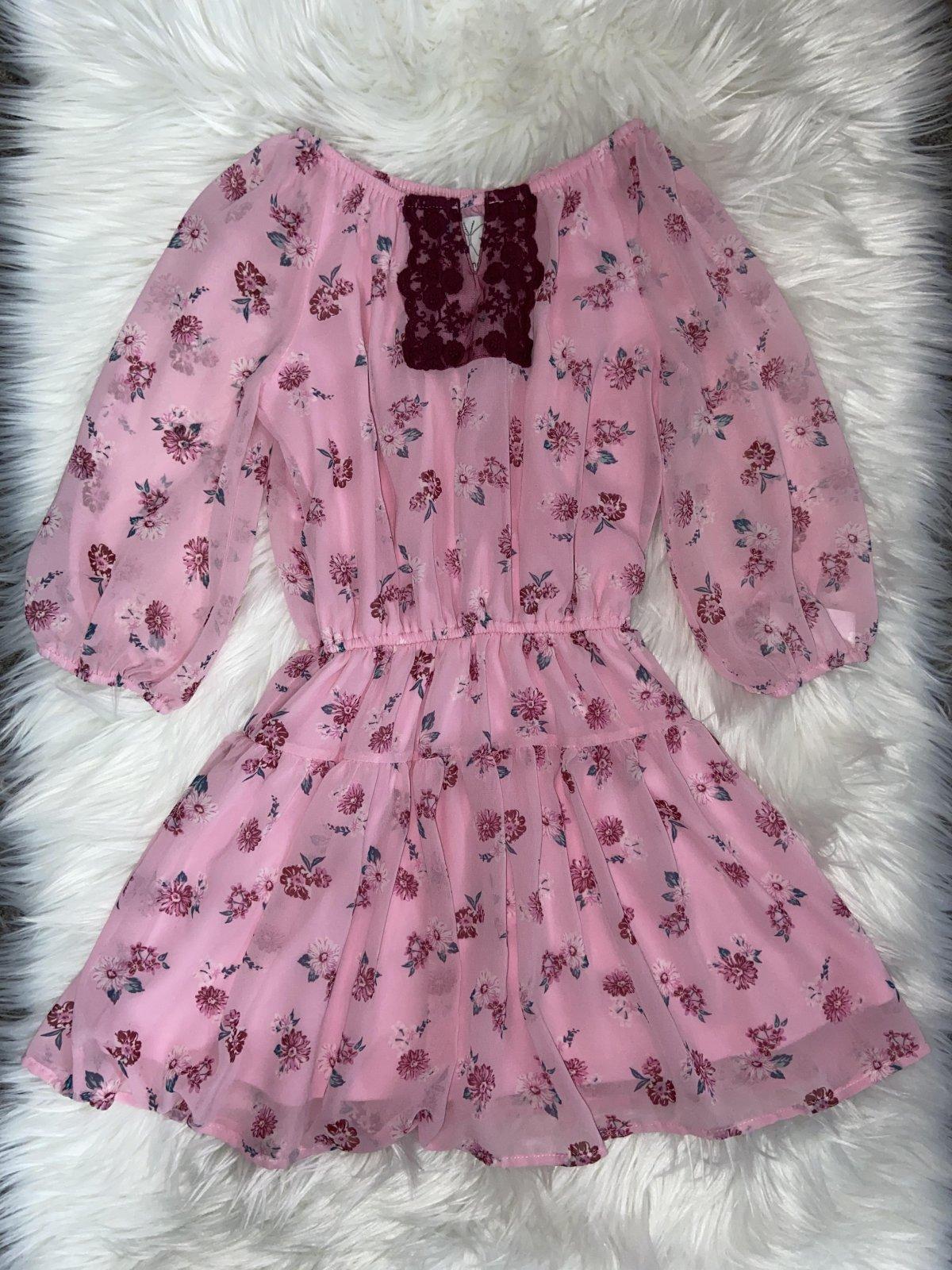 Ella Moss Long Sleeve Romper Pink Girls Size 8