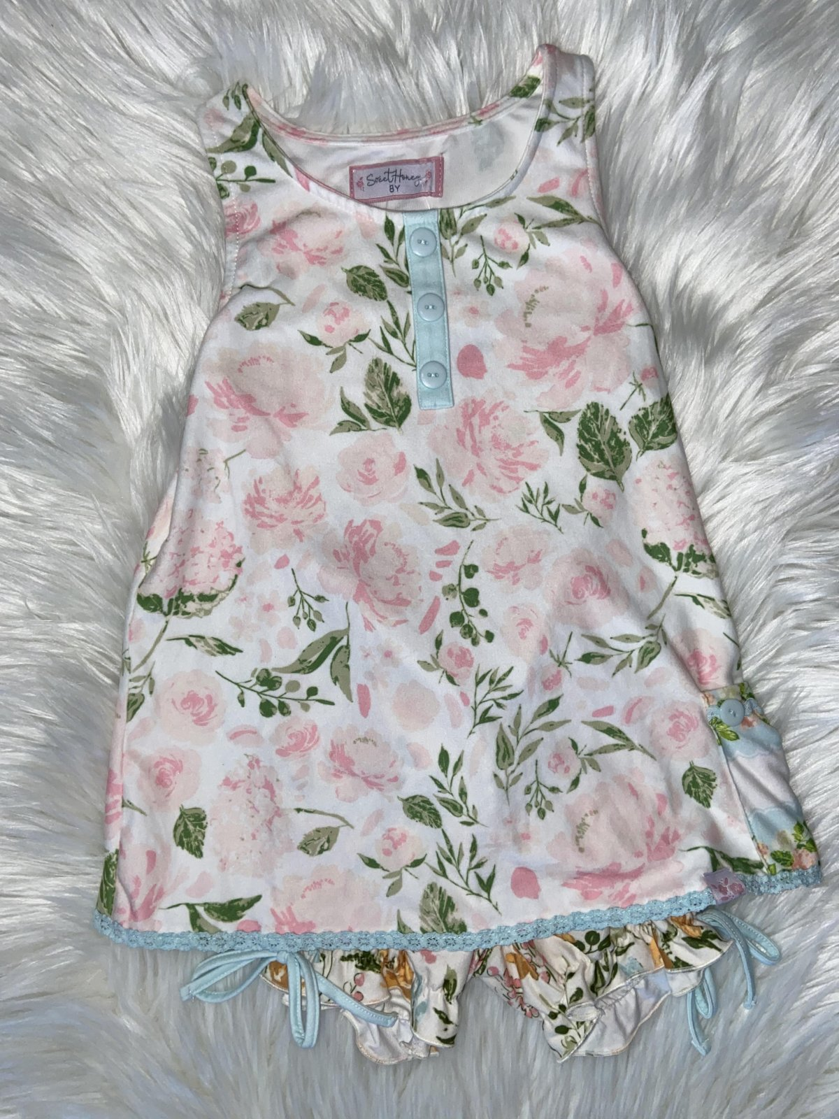 SWEET HONEY 2PC PJ SET FLORAL