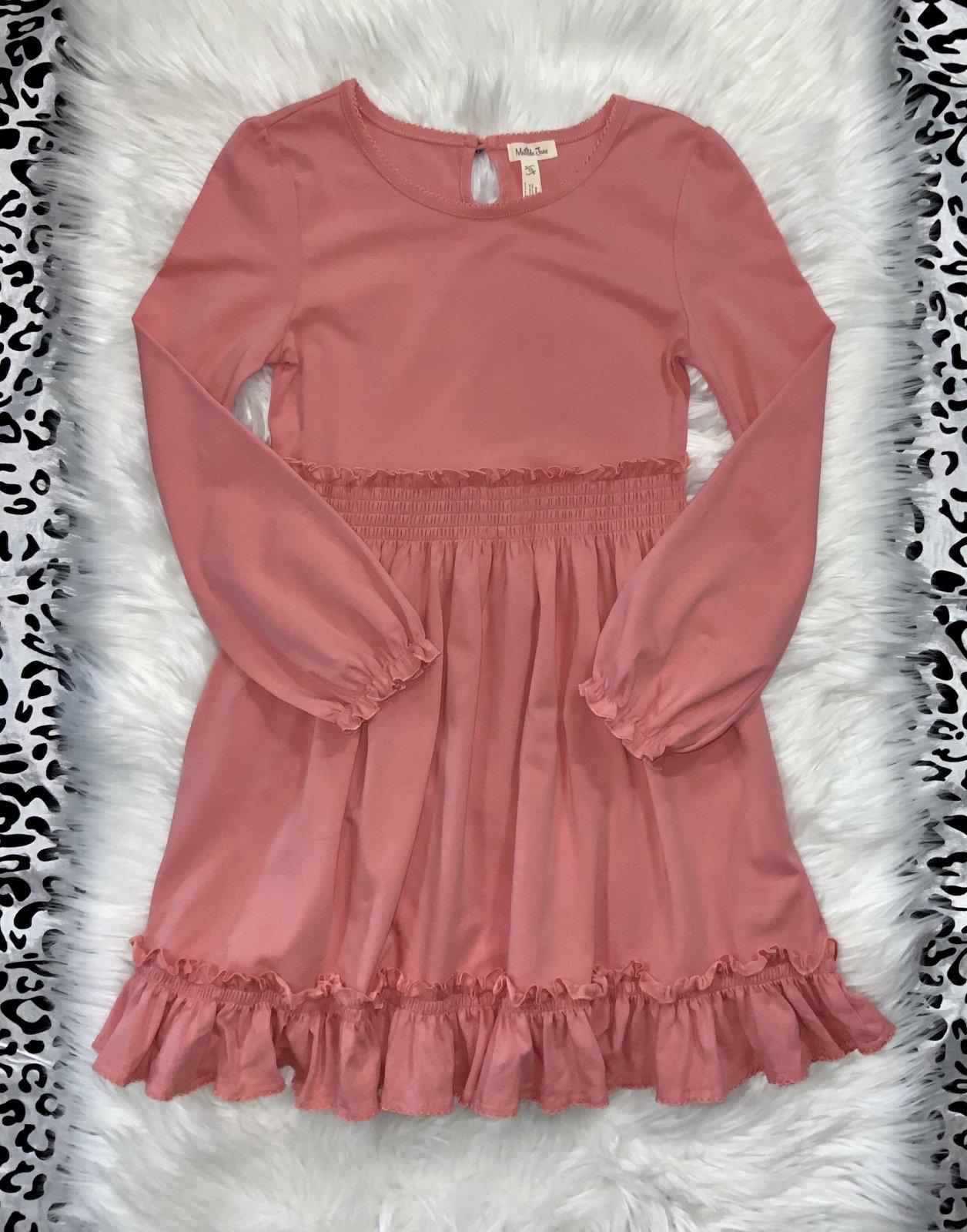 MATILDA JANE DRESS LS CORAL SIZE 10