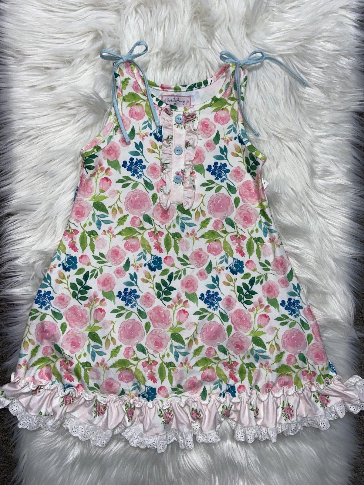 SWEET HONEY NS DRESS PINK FLORAL SIZE 8