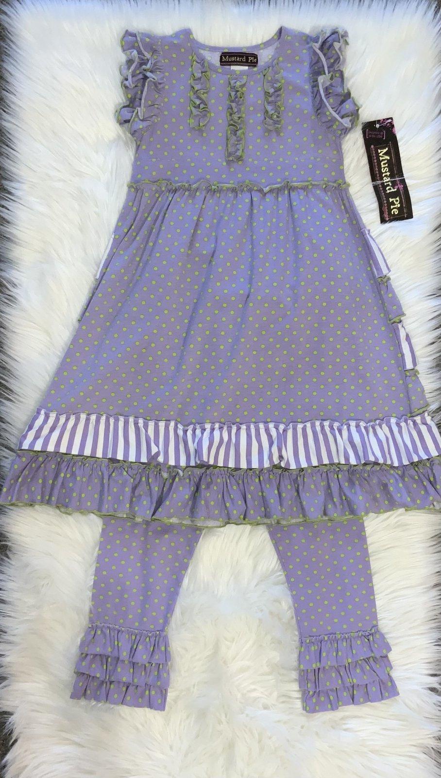 MUSTARD PIE 2PC DRESS PURPLE/GREEN SIZE 6