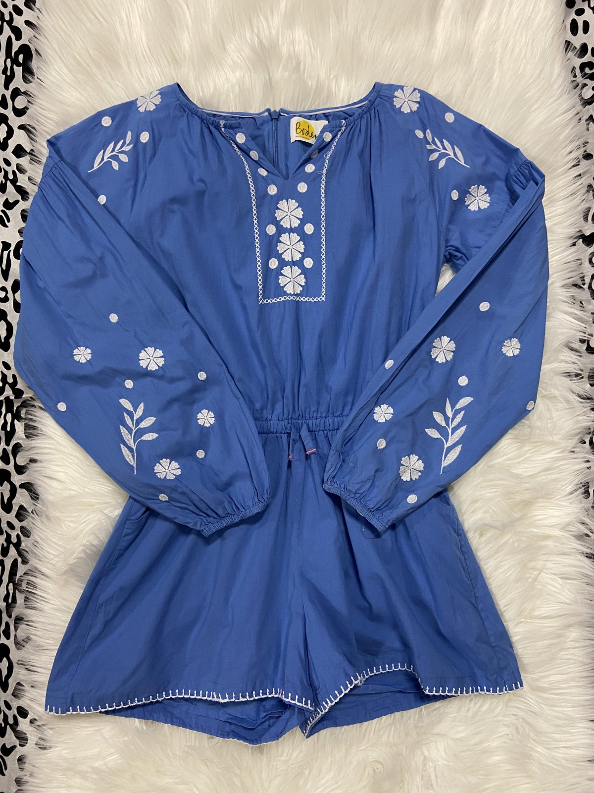Mini Boden Long Sleeve Romper Blue Size 13-14Y