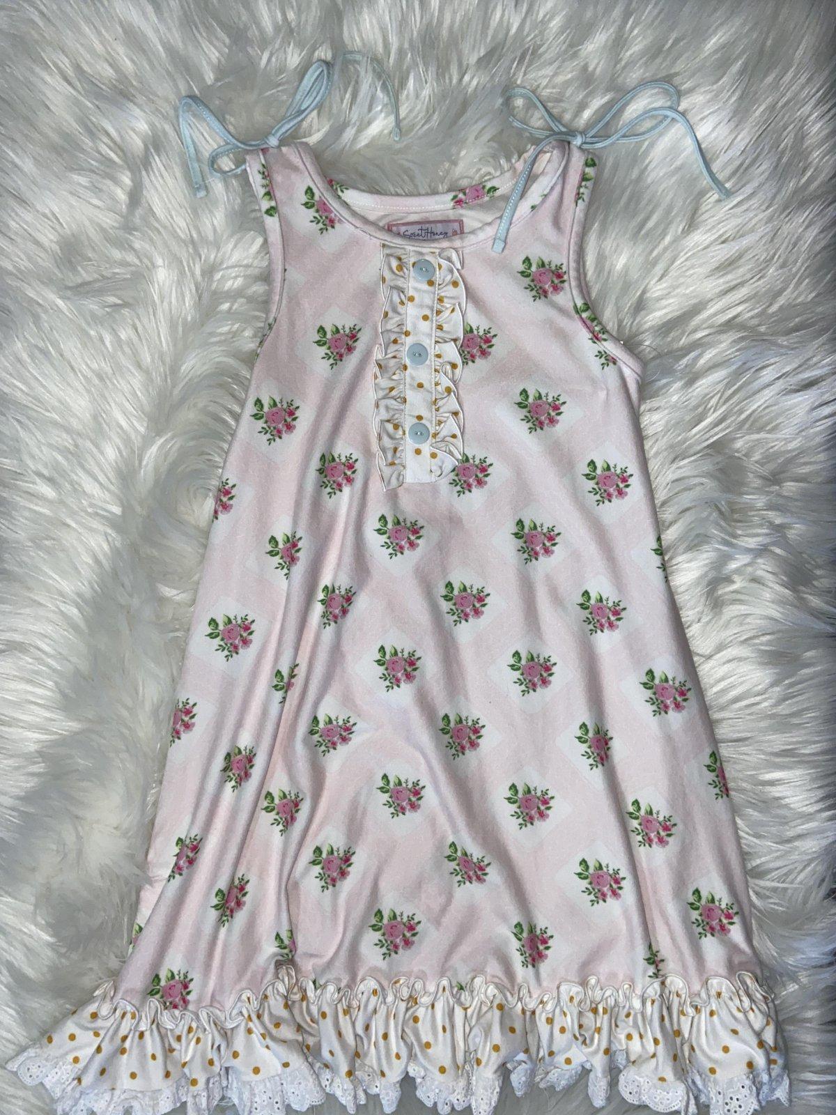 SWEET HONEY DRESS PINK FLORAL SIZE 8