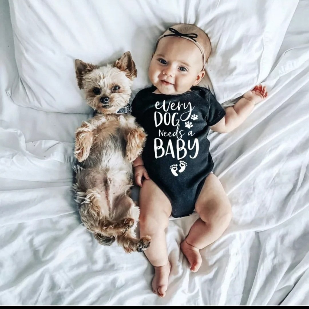 Short Sleeve Bodysuit Every Dog Needs a Baby