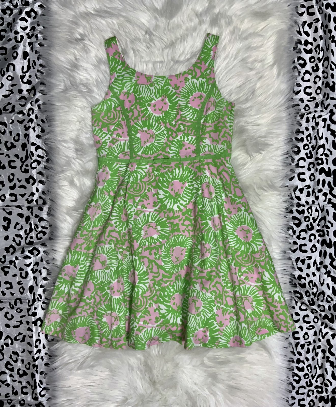 LILY PULITZER DRESS NS GREEN SIZE 14