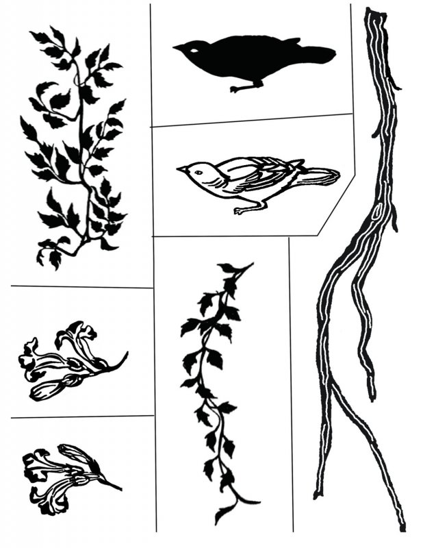 Bird, Branch and Leaves