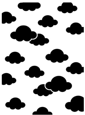 Embossing Folder - Clouds Background - 4.25 x 5.75