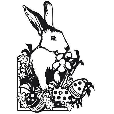 Darice Embossing Folder 4.25 x 5.75-  Easter Bunny Design