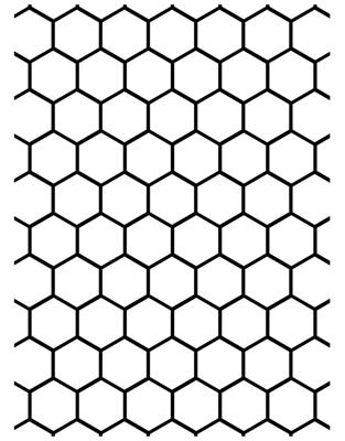 Darice® Embossing Folder - Honeycomb - 4.5 x 5.75