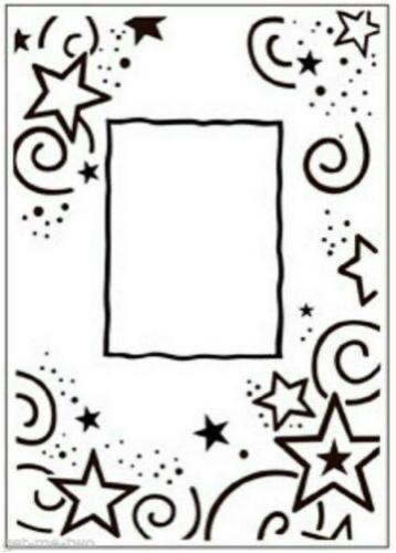 Embossing Folder, 4.25x5.75- Star Border